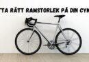 Guide för att välja ramstorlek till din cykel